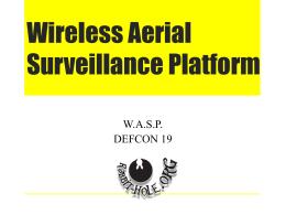 Wireless Aerial Surveillance Platform - The Rabbit-Hole