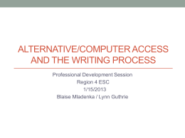 Alternative_Computer Access and the Writing Process notes