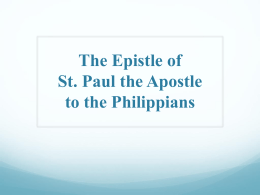 NT11 - Philippians - Saint Mina Coptic Orthodox Church