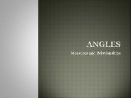 Angles - No