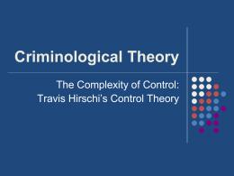 Control Theory Hirschi