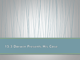 15.3 Darwin Presents His Case