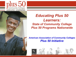 Educating Plus 50 Learners
