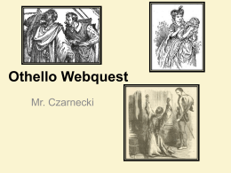 Othello Webquest
