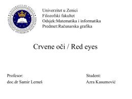 Univerzitet u Zenici Filozofski fakultet Matematika i