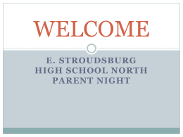 8th Grade Parent Night Presentation 2016