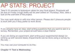 AP STATS: Project