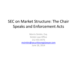 SEC Secondary Trading Market Changes of June 5 and 6, 2014