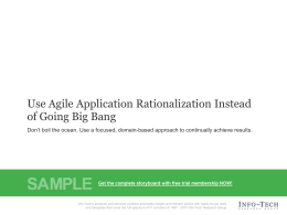 Use Agile Application Rationalization Instead of Going Big Bang