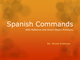 Spanish Commands