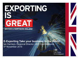 E-Exporting Take your business to the world