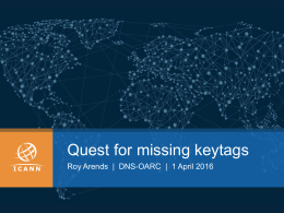 Quest_for_the_missing_keytags - DNS-OARC