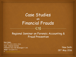 PPT of CA. Rajiv Gupta Ji of Seminar on Forensic Accounting