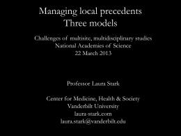 Laura Stark, Vanderbilt University, Center for