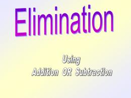 eliminate - MrCParent