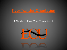 Tiger Transfer Orientation