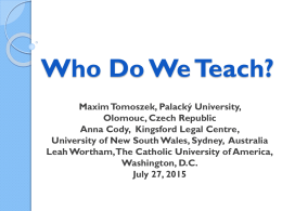 Who Do We Teach?