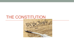 The Creation of a Constitution