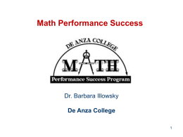 Math Performance Success