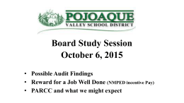 Board Work Session 10/6/2015