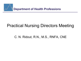 Practical Nursing Directors Meeting