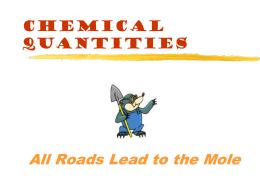 Intro to Mole, Mole and Representative Particles, Mole and Volume