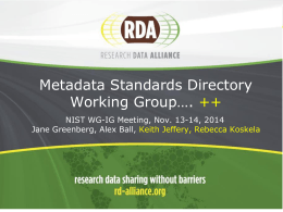 Metadata-JG.ppt - Research Data Alliance