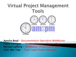 Virtual Project Management Tools