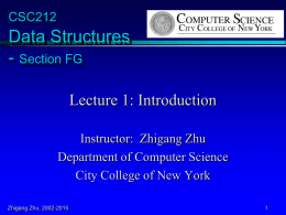 Lecture 1 - Computer Science