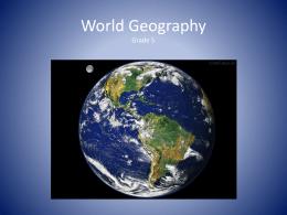 World Geography Grade 5