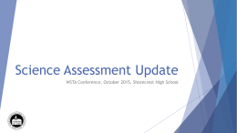 OSPI Science Assessment Update - WSTA