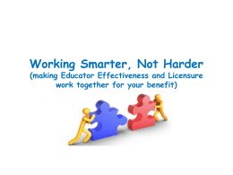Working Smarter, Not Harder - Sheboygan Falls School District