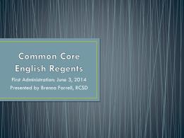 Common Core English Regents