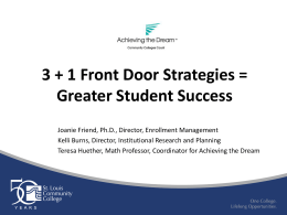 3 + 1 Front Door Strategies