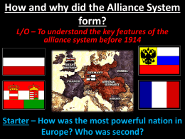 The Alliance System before 1900