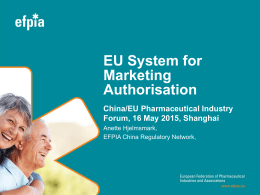 EU System for Marketing Authorisation