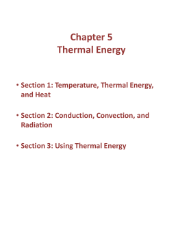 Chapter 5 Thermal Energy