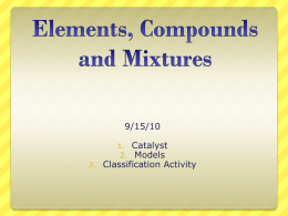 9-15-10 Elements_ Compounds and Mixtures ML