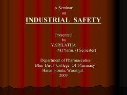 Industrial Hazards And Safety Measures
