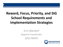 Title I School Improvement Requirements and Implementation
