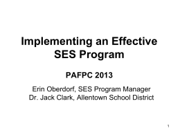 Effective SES Program