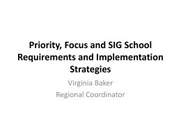 School Improvement Requirements