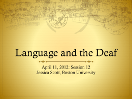 Language and the Deaf - SED-DE-576