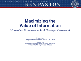 Adv. Track 3_Maximizing the Value of Information