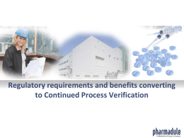Continued Process Verification