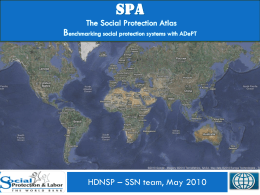 World Bank The social protection atlas