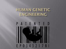 Human Genetic Engineering - Westgate Mennonite Collegiate