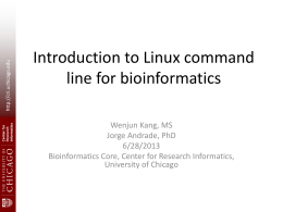 Introduction to Linux Command Line for Bioinformatics