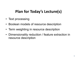 Text Processing - University of California, Berkeley