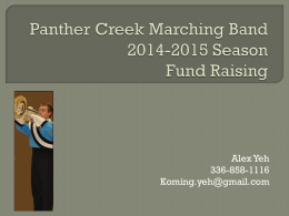 Rolling 4 years - Panther Creek Band